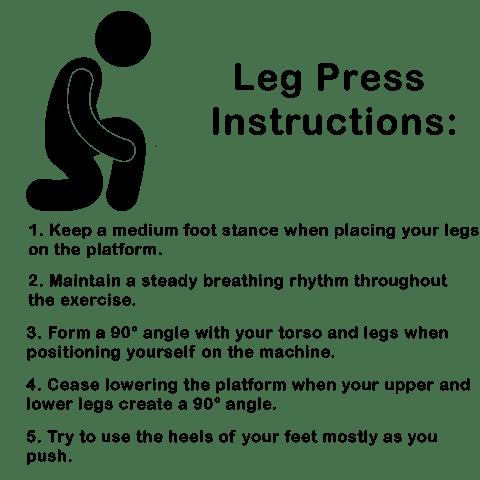 Leg press instructions picture